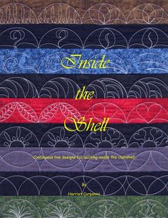 """Inside the Shell"" Continuous Line Designs for Quilting Inside the Clamshell #HandiQuilter"