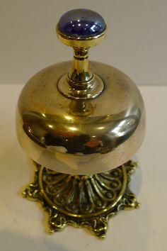 Antique English Brass Desk Bell c.1880
