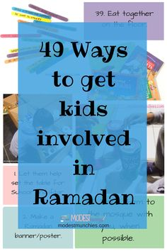 One question I've seen floating around on social media a lot is 'How do I get my children involved in Ramadan?', so I put together a post to answer this question. Involvement can mean a 49 Ways to get Kids Involved in Ramadan – Modest Munchies Ramadan 2016, Islam Ramadan, Ramadan Gifts, Ramadan Mubarak, Ramadan For Kids, Fest Des Fastenbrechens, Eid Activities, Religion Activities, Pranks