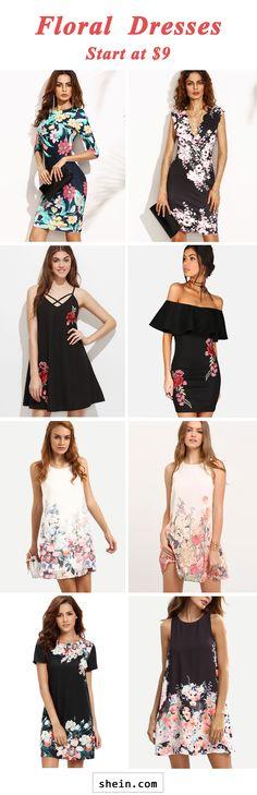 Floral dresses start at $9