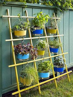 If you're working with a small backyard or patio, use a vertical garden to grow your vegetables, herbs, and other plants. These DIY vertical gardens will help you grow the best herbs you've ever tried. Check out these unique planters using a shoe rack, paint cans, gutters and more unique, everyday items!