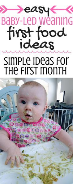 These first foods are perfect for baby-led weaning, especially if you're hesitant about using handheld foods. These simple ideas will have your 6 month old eating with the rest of the family! This post also has a list of best products for baby-led weaning! | First Foods | Starter Foods | Avocado | Banana | Yogurt | 6 Months | BLW |