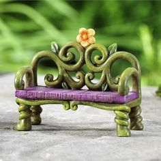 FAIRYTALE BENCH - This fabulous bench seat is one of our most popular bench seats. Its magical, enchanting and simply divine. Your fairy friends will be ever so excited when you add this to your fairy garden. #fairygardeningaustralia