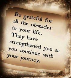 be grateful ..