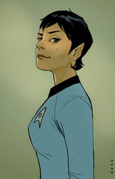 "The title says ""Spock's daughter"" but I like to think she's just gender-bent Spock :)"