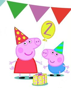 Peppa and George Peppa Pig 2, Cumple Peppa Pig, Frozen Birthday Party, 2nd Birthday, Peppa Pig Imagenes, George Pig Party, Aniversario Peppa Pig, Hello Kitty Wallpaper, Kids Party Themes