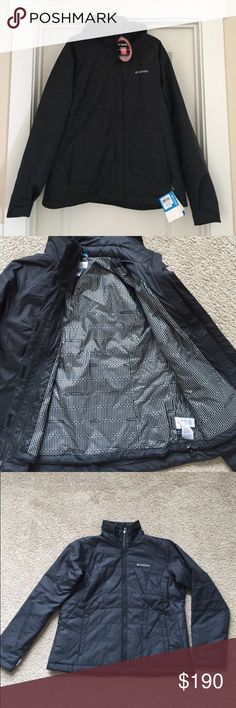 Double Layer Columbia Jacket Great jacket!! One of the layers is a waterproof windbreaker and the other jacket is a light puffer jacket. The puffer jacket zips inside of the windbreaker and is perfect for warmer days. This is basically two jackets that can be worn together or separately based on the weather. The hood is detachable. Perfect for winter activities. Columbia Jackets & Coats