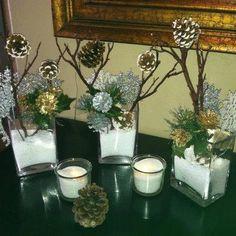 Winter Table Decor By Www.oakcreekranchtopanga.com