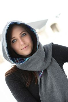 Hooded Scarf in Vintage Plaid
