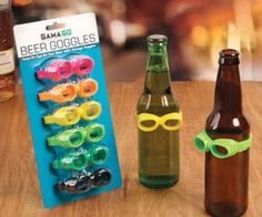 Beer Goggle Drink Markers ($7.99) These beer goggles will make any drink look good… no guarantees for your date though.