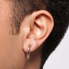 Men S Single Gold Hoop Clip On Earring