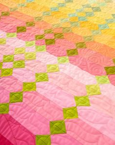 """Sunrise"" strip quilt pattern by Elizabeth Huff and Wynema Bean at Jackman's Fabrics. Published in the Spring/Summer 2014 edition of Quilt Sampler magazine"