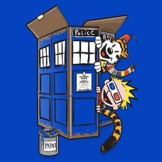 Box of Time and Space T-Shirt $12 Calvin and Hobbes tee at Blue Box Tees!