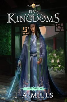 My font CARRIG in use - cover artwork for Five Kingdoms.