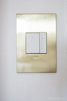New brushed brass outlets and switches  @legrandna - Cuckoo4Design