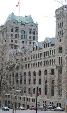 Windsor Train Station, Montréal, Québec - Richardsonian Romanesque Revival Style architecture OL