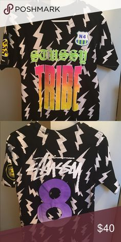 """Stussy """"Stussy Tribe Lightning"""" T-shirt (Size M) Stussy """"Stussy Tribe Lightning"""" limited edition T-shirt (Size Medium) for $50 OBO. Wore it for a music video shoot so it's like new. Open to offers. Stussy Shirts Tees - Short Sleeve"""