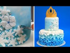 7ecc64efac1dce Elsa Crown Cake - How To Make White Modeling Chocolate by CakesStepbyStep