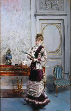 Giovanni Boldini - Berthe Admiring a Fan, 1878 | Flickr - Photo Sharing!