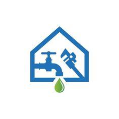 Professional Home Installation Service Plumbing Logo Real Estate Logo Design, Modern Logo Design, Graphic Design, Logo Design Template, Logo Templates, Association Logo, Business Logo, Business Card Design, Cleaning Service Logo