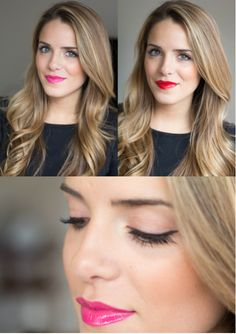 Quick Ways To Vamp Up Your Valentine's Day Makeup. Also includes neutral smokey eye with nude lip color.