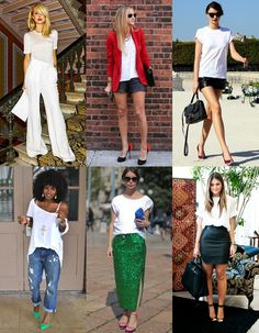 Outfit Ideas: How to Wear a White T-shirt