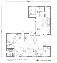 Apartment Plans, Apartment Design, House Outline, 4 Bedroom House Plans, Home Design Floor Plans, House Layouts, House Goals, Architecture, Exterior Design