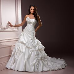 beautiful dropped waist gown