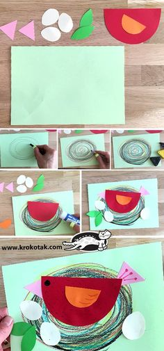 69 Trendy bird nest art for kids projects Kids Crafts, Bird Crafts Preschool, Craft Projects For Kids, Toddler Crafts, Activities For Kids, Art Projects, Arts And Crafts, Birds For Kids, Art For Kids