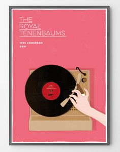 Tocadiscos Turntable Margot Tenenbaums Poster Wes Anderson Wall Art Print Digital Illustration The Royal Tenembaum Poster Art Movie by BagApart on Etsy https://www.etsy.com/listing/203724086/tocadiscos-turntable-margot-tenenbaums