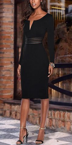 Black Bodycon Dress Black Bodycon Dress,Kleidung Tight collar dress bag hip skirt bodycon dress, fashion casual style and comfortable material you will love it, coats, sweaters and dresses you can options. Dress Outfits, Fashion Outfits, Fashion Tips, Dress Fashion, Bodycon Fashion, Sweater Outfits, Style Fashion, Fashion Coat, Fashion Hacks