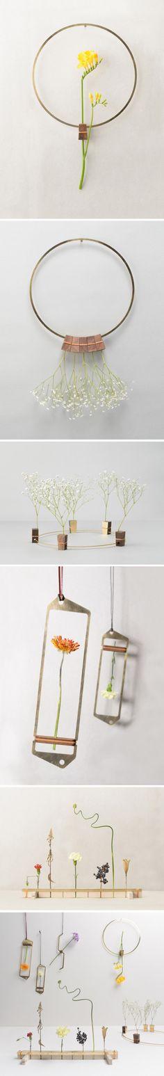 神戶藝術工科大學的學生Nobu Miake的設計作品,用來展示乾花的器物。