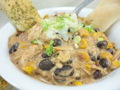 Cooking it Slow (Slow Cooker): Slow Cooker Cream Cheese Chicken Chili