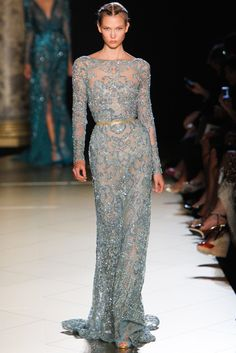 Elie Saab Fall 2012 Couture Fashion Show - Karlie Kloss (IMG)