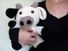 stuffed animal crochet cow