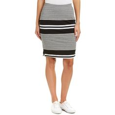 Three Dots Three Dots Pencil Skirt (400 MXN) ❤ liked on Polyvore featuring skirts, black, print skirt, pencil skirt, three dots skirt, patterned skirts and knee length pencil skirt