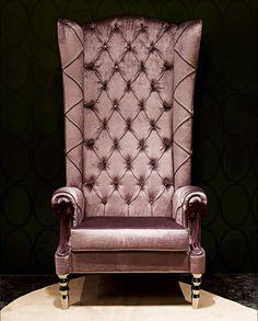 Giuliana Velvet High Back Chair