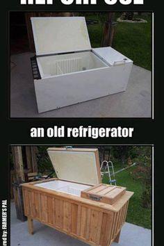 Diy old fridge makeover!!