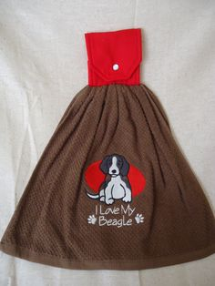 I love my Beagle Embroidered Kitchen Towel by Marshaslilcraftpatch on Etsy
