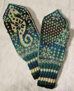 """Selbuvott or not"" alias Selbu Sea Horse Mittens knitting"