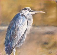 Grey heron by Julie Wilson Julie Wilson, Grey Heron, Beach Artwork, Bird Drawings, Painting & Drawing, Bird Paintings, Landscape, Artist, Pastel
