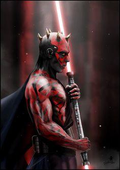 Darth Maul | Star Wars Dark Maul, Space Movies, Sith Lord, Comic Movies, Last Jedi, Lightsaber, Love Stars, Clone Wars, Star Wars Art
