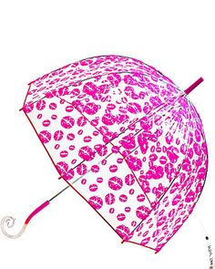 BETSEY BUBBLE STICK UMBRELLA PINK I would find a reason to use this everyday regardless if it's raining or not.