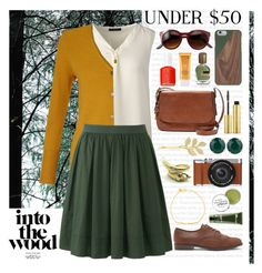 """""""Into the Woods Outfit"""" by ohsosartorial ❤ liked on Polyvore featuring Oris, Lands' End, Zara Taylor, EAST, Uniqlo, FOSSIL, Forever 21, T Tahari, Native Union and Fig+Yarrow"""
