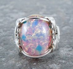 Pink glass ring <3