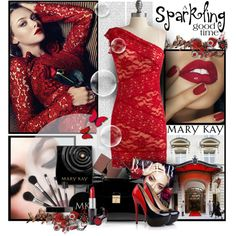 """""""Mary Kay Cosmetics - Red Lips"""" by christiana40 on Polyvore. http://www.marykay.com/analuisarivera"""