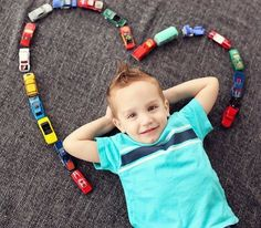Love this picture idea for a little boy