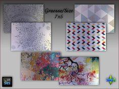 6 rugs size 7×5 by Mabra at Arte Della Vita • Sims 4 Updates