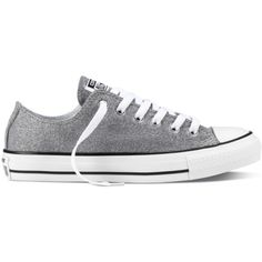 Converse Women's Chuck Taylor All Star Sparkle Knit Athletic ($50) ❤ liked on Polyvore featuring shoes, converse shoes, star shoes, knit shoes, converse footwear and flexible shoes