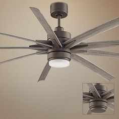 Give your home fresh new style with this wet-rated ceiling fan.